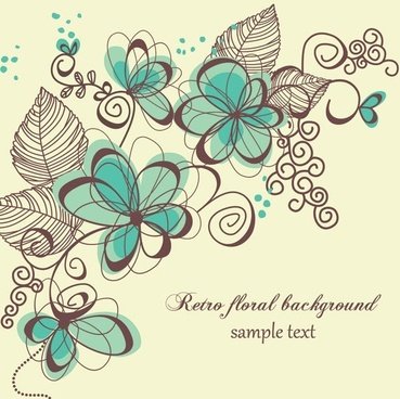 the trend of handpainted pattern vector 3