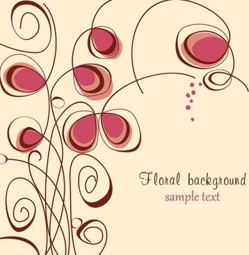 the trend of handpainted pattern vector 4
