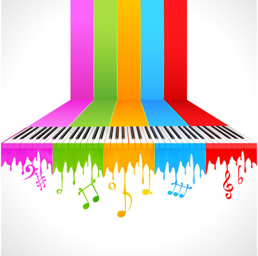 the trend of music theme vector background