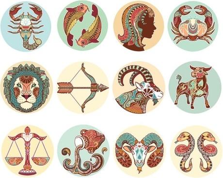 the twelve constellations illustrator patterns vector