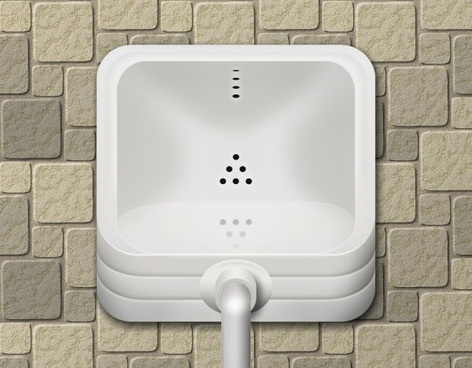the urinal icon psd layered