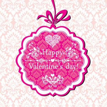 the valentine card design vector graphic