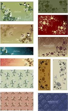 the vine decorative pattern background vector