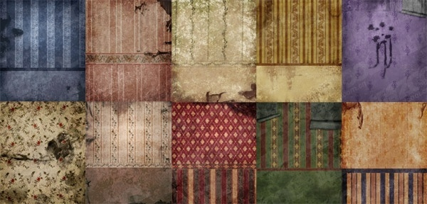 the walls of the dilapidated europeanstyle wallpaper picture 2