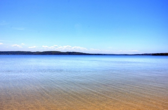 the water of lake superior at pictured rocks national lakeshore michigan