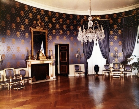 the white house 1952 blue room