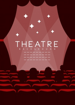 theatre background dark design audience curtain icons