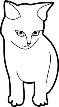 Themanwithoutsex Sitting Cat Outline clip art