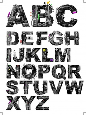 alphabet background modern technology design
