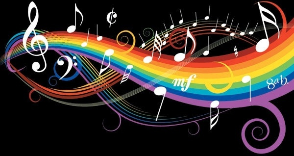 theme music notes vector 1