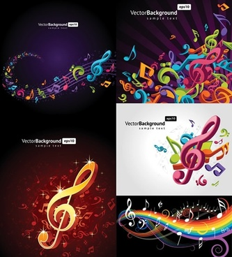 music background templates colorful modern dynamic 3d decor