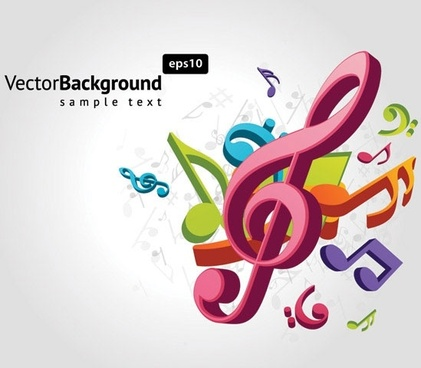 theme music notes vector 2