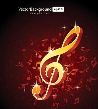 theme music notes vector 5