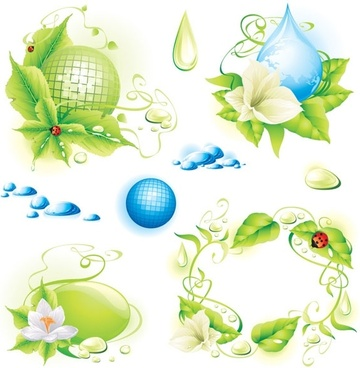 theme of environmental protection 01 vector