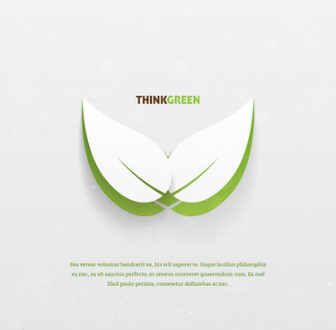 think green concept leaf