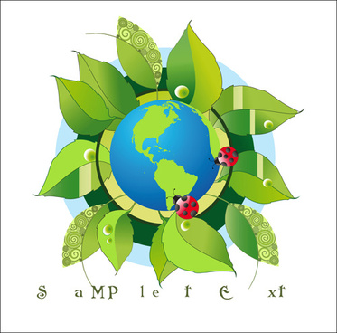 think green earth design elements vector