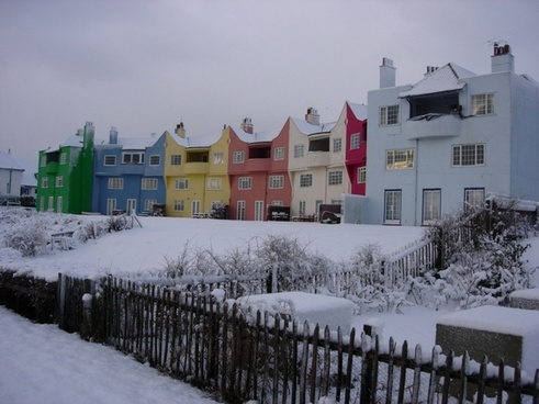 thorpeness in the snow