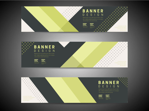 Three Abstract Background Banners Design In Modern Style