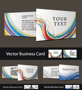 three beautiful business card vector