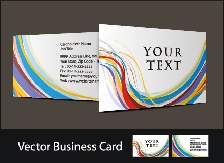 business card templates colorful abstract curves motion decor