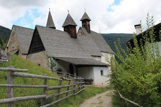 three churches south tyrol mountains