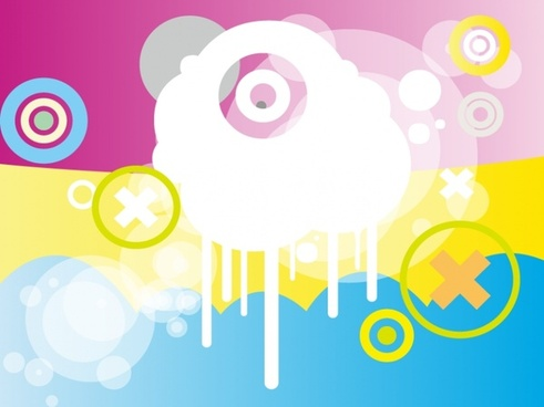 abstract background colorful bright bokeh round design