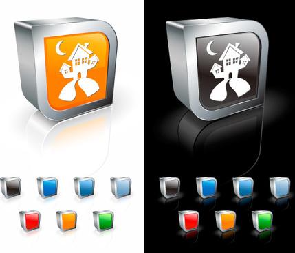 three dimensional icon vector