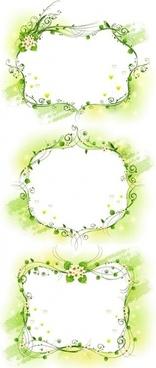 three kinds of elegant yellowgreen decorative box vector