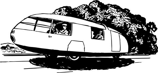 Three Wheels Car clip art