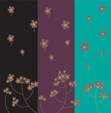 floating flowers background dark color design