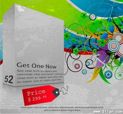 sales banner colorful grunge vintage decor 3d design