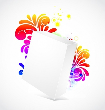 flower box background 3d blank sketch colorful petals