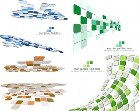 geometric background 3d colored squares decoration