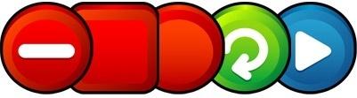threedimensional button icon vector png