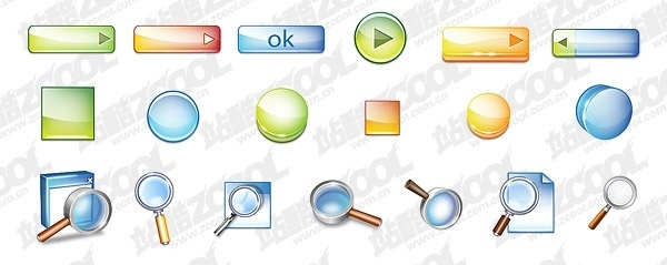 threedimensional button topic cool icon psd layered