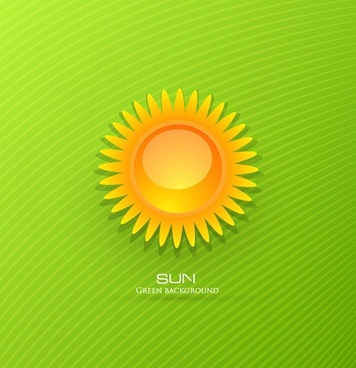 threedimensional cartoon sunrise background 02 vector