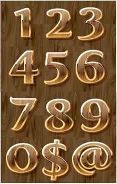 threedimensional digital symbols vector