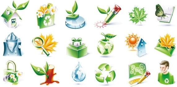 threedimensional icon vector environmental topics