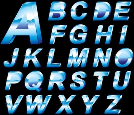 Threedimensional Letters Design Series 10 Vector