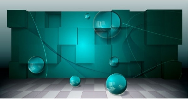threedimensional space for creative business background vector 3