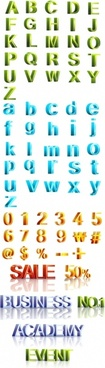 threedimensional vector letters and numbers revised edition