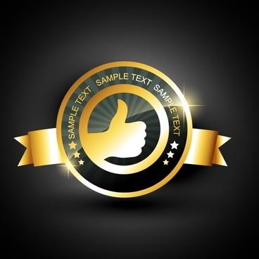 sale guarantee label thump ribbon decor sparkling golden