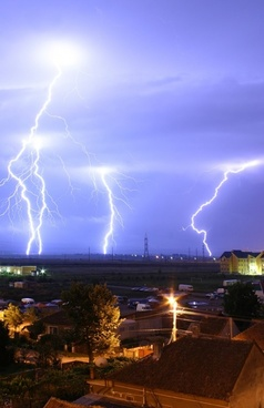 thunderstorm flashes thunder