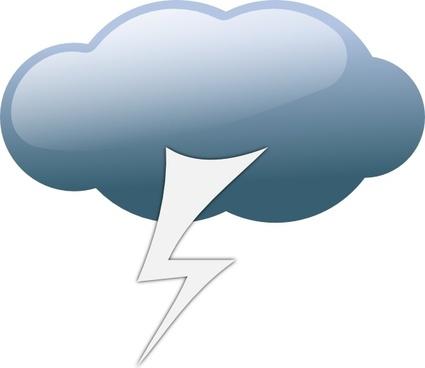 Thunderstorm Weather Symbols clip art