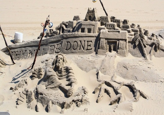 thy will be done sand sculpture