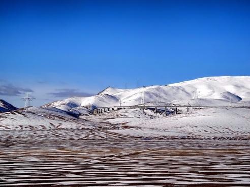 tibet landscape mountains