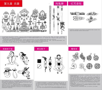 tibetan buddhist symbols and objects figure of ten five auspicious tienmu artifact vector