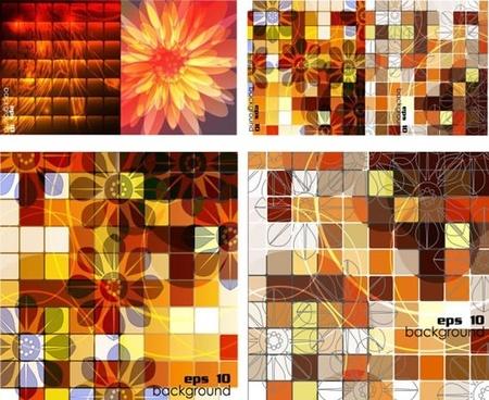 tide box grid background vector