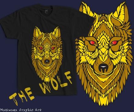 tide tshirt wolf