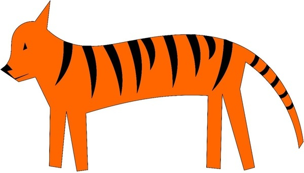 tiger cartoony